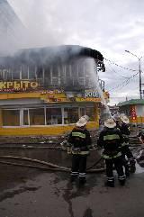 Пожар в кафе