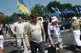 Жители Харьковского района, члены Партии регионов и «Слобожанского выбора» перекрыли две трассы. Пикеты проходили возле поста ГАИ в Песочине и на выезде из Харькова в сторону Волчанска