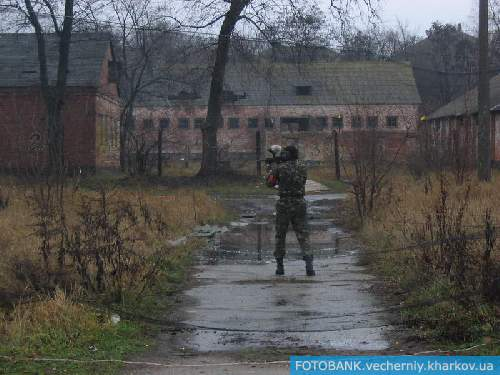 В Харькове прошли пейнтбольные маневры