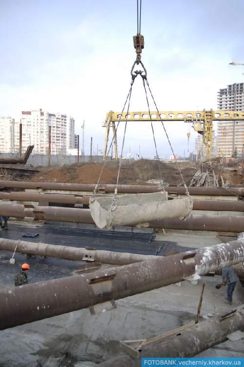Строительство станции метро «Алексеевская»