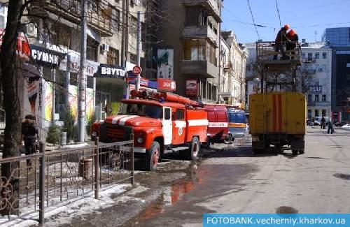 Обрушение здания в центре Харькова