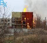 Крупный пожар по улице Октябрьской революции