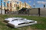 В Харькове начали монтировать градусник-символ