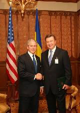 Встреча Виктора Януковича и  Джорджа Буша