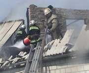 В Харькове горел частный дом