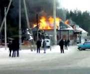 Крупный пожар в Мерефе (видео)