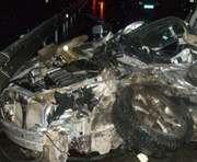 Под Харьковом КАМАЗ сбил две иномарки: трое погибших