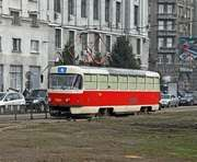 В центре Харькова появились чешские трамваи