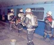 В харьковском метро ночью тушили пожар: фото-факты