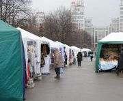 На центральной площади Харькова собирается пасхальная ярмарка