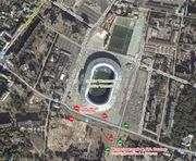В Харькове возле стадиона «Металлист» в понедельник не проехать