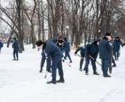 Харьковских курсантов «кинули» на снег