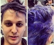 Шуфрич перекрасил волосы в ярко-синий цвет