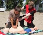 В Харькове провели мастер-класс по спасению утопающих