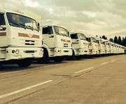 Машины с украинским гуманитарным грузом отправляются в Луганск
