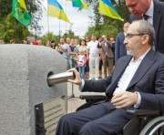 В Харькове заложили капсулу на месте установки памятника из Крыма
