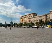 На площади Свободы в Харькове временно закрывается движение транспорта