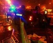 ДТП в Харькове: джип снес ограждение на площади Восстания и перевернулся (ФОТО)