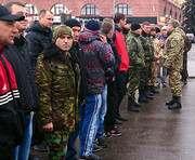 В Харькове встретили демобилизованных военных