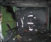 В Харькове горели гаражи