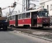 В Харькове трамвай врезался в фонарный столб: фото-факты