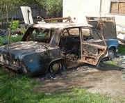 Под Харьковом человек сгорел в автомобиле