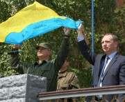 В Харькове встретили бойцов, вернувшихся из зоны АТО