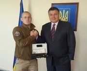 Командир роты «Східний корпус» получил наградное оружие