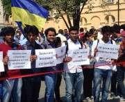 В Харькове иностранные студенты требуют расследовать погром