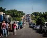 На выездах из «ДНР» образовались огромные очереди