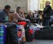 Поток беженцев через Харьков уменьшился