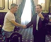Зачем Харьковский губернатор встречался с главным тренером «Металлиста»