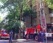 Пожар в центре Харькова: горит дом на Чернышевской