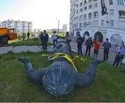 В Харькове появился памятник-переселенец