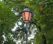 В харьковском сквере Пожарных установили новые светильники