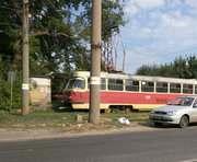 ДТП в Харькове: на Салтовке трамвай сбил столб