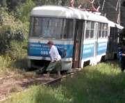 Очередной трамвайный дрифт в Харькове случился на Салтовке
