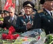 К Мемориалу Славы возложили цветы по случаю окончания Второй мировой войны