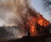 Пожар под Харьковом: есть погибший