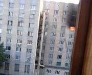 В Харькове случился крупный пожар в девятиэтажке