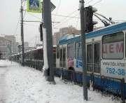 В Харькове хорошенько парализовало транспорт