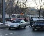 В Харькове загорелся трамвай: фото-, видео-факты