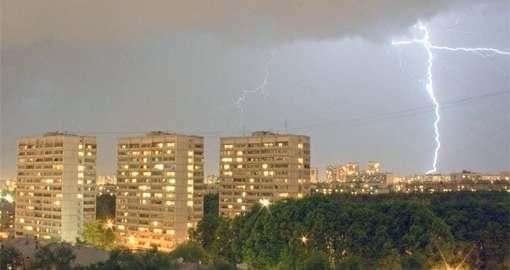 Погода в Харькове: сильный дождь, гроза и град
