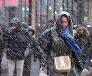 Обильный снегопад пришел из Днепропетровска