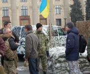 Харьковские активисты присоединились к блокаде российских фур: фото-факты