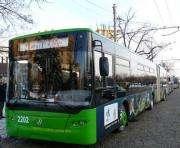 По проспекту Героев Сталинграда в Харькове ограничена скорость движения троллейбусов