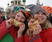 В Харькове на площади Свободы открылся масленичный городок