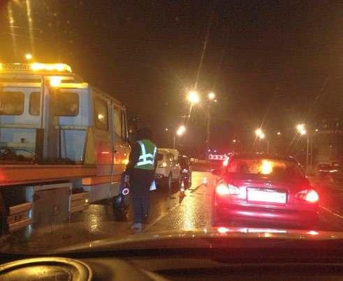 ДТП в Харькове: пьяный водитель создал пробку на Гагарина