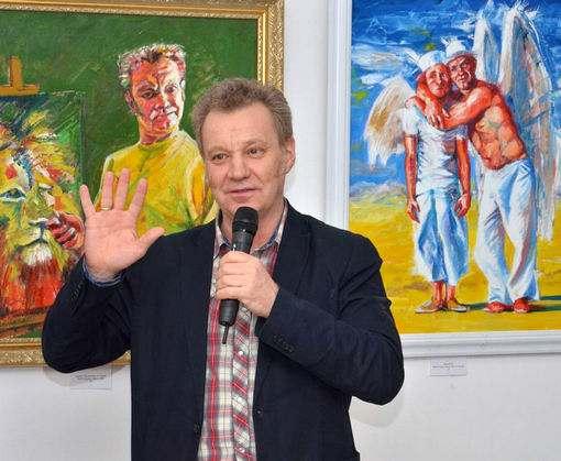 Что делал в Харькове известный шоумэн-художник