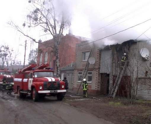 Пожар в Харькове: на Новоселовке горел частный дом